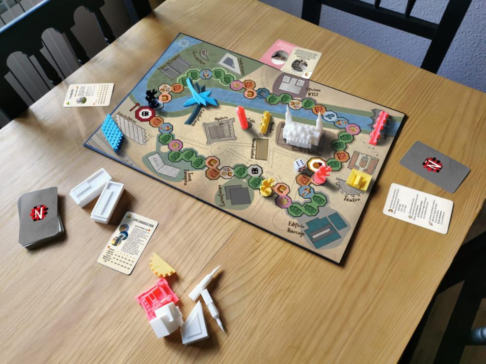 El juego de mesa Mañópolis, una propuesta que repasa la historia de Zaragoza.