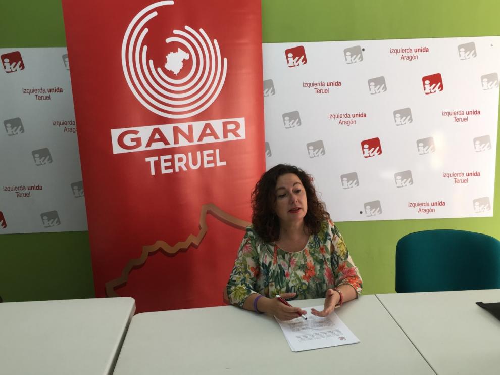 La concejala de Ganar Teruel en el Ayuntamiento de la capital, Anabel Gimeno.