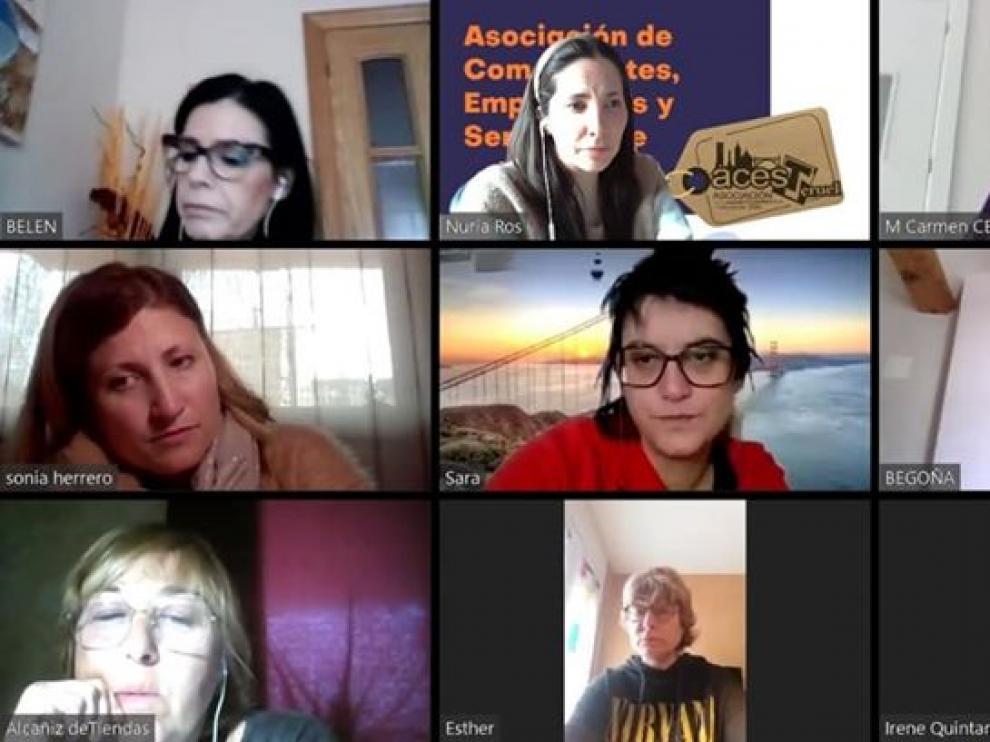 Reunión telemática de los gerentes de las asociaciones comerciales de Teruel.