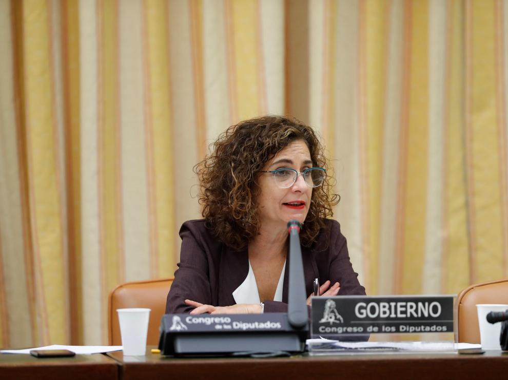 María Jesús Montero, comparece en la Comisión de Hacienda del Congreso