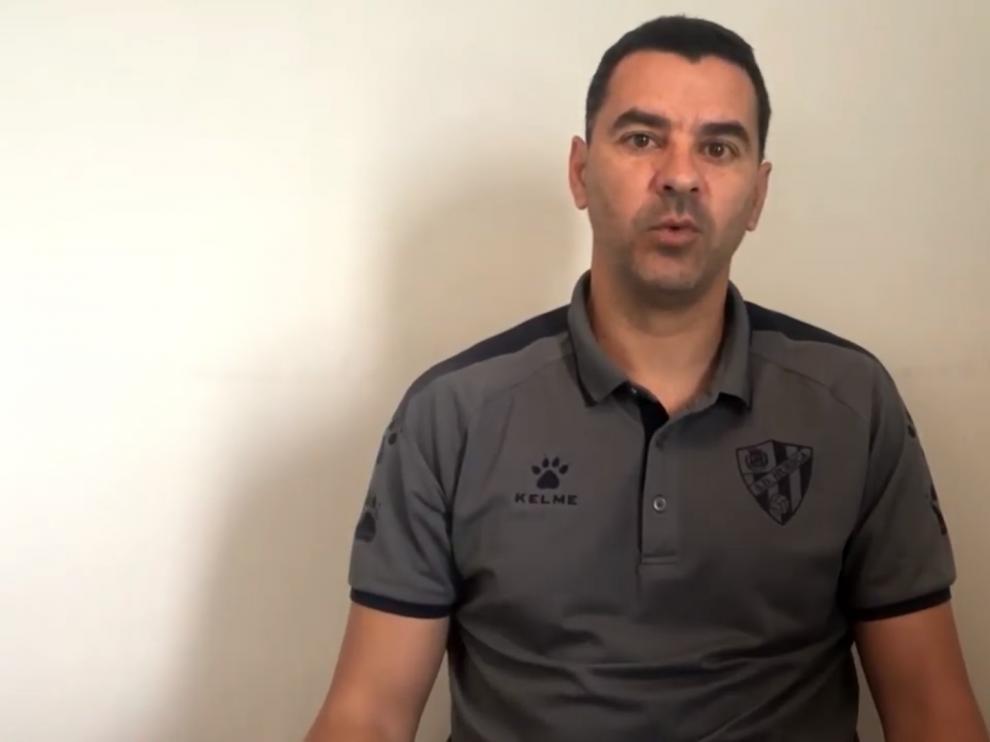 Míchel Sánchez ha respondido preguntas de periodistas y aficionados.