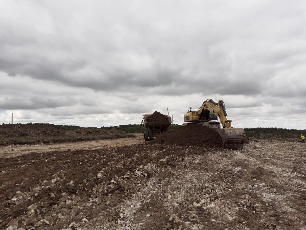 Inicio de las obras del parque eólico entre Blesa y Moyuela.