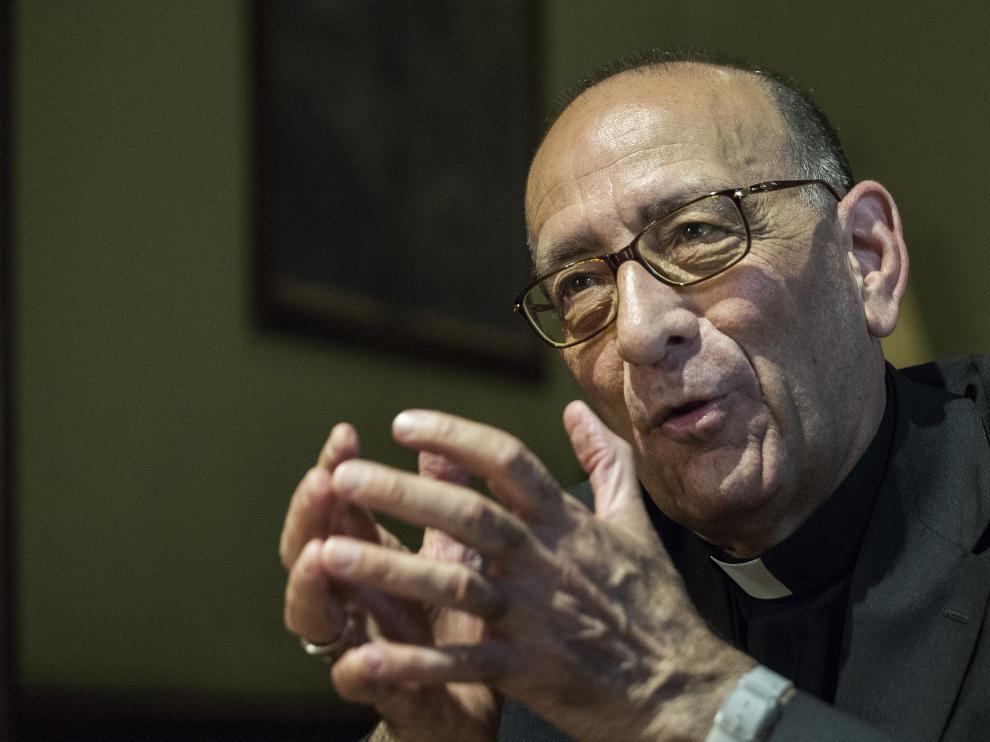 Juan José Omella, presidente de la Conferencia Episcopal Española enel, Palau Episcopal de Barcelona.