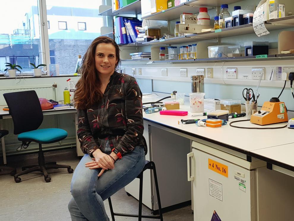 Nerea Irigoyen ha reabierto su laboratorio en Cambridge.