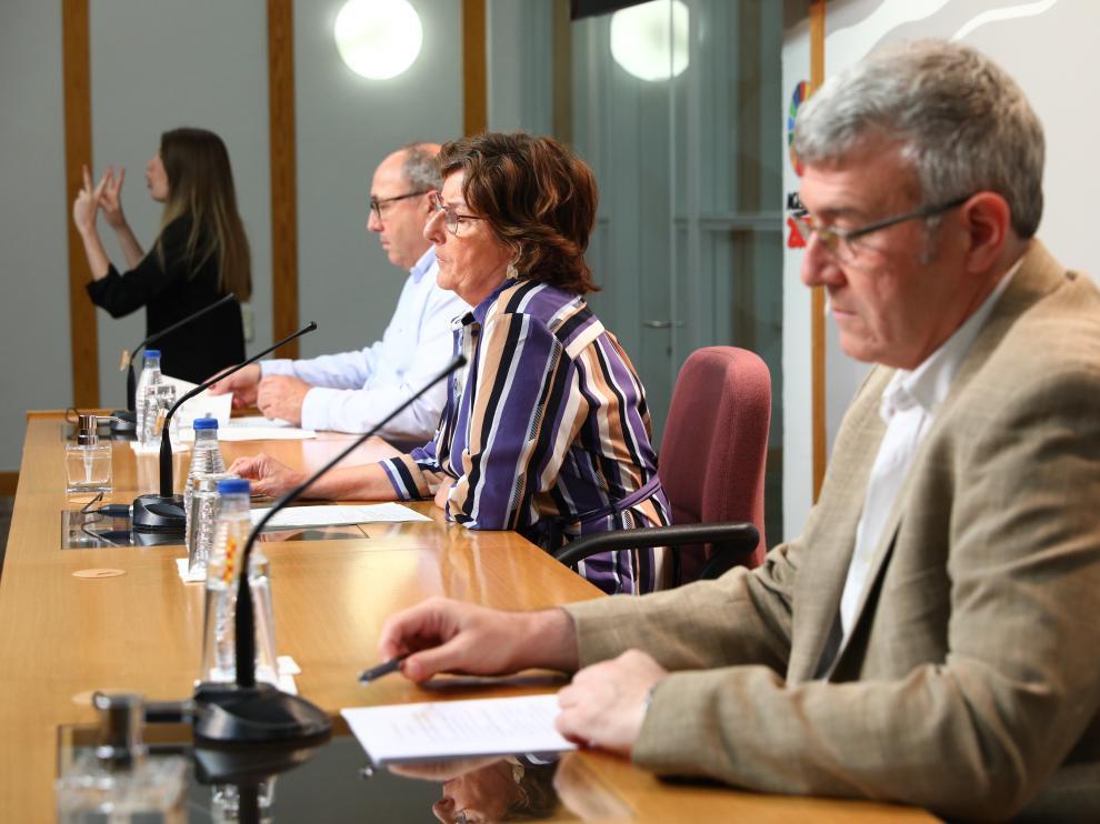 Rueda de prensa del Gobierno de Aragón sobre la evolución de la pandemia en las residencias