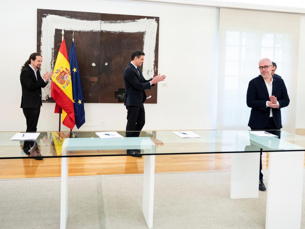 Firma del acuerdo sobre los ERTEs