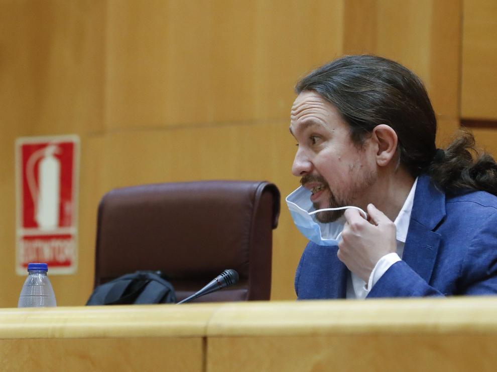 El vicepresidente Pablo Iglesias comparece ante el Senado