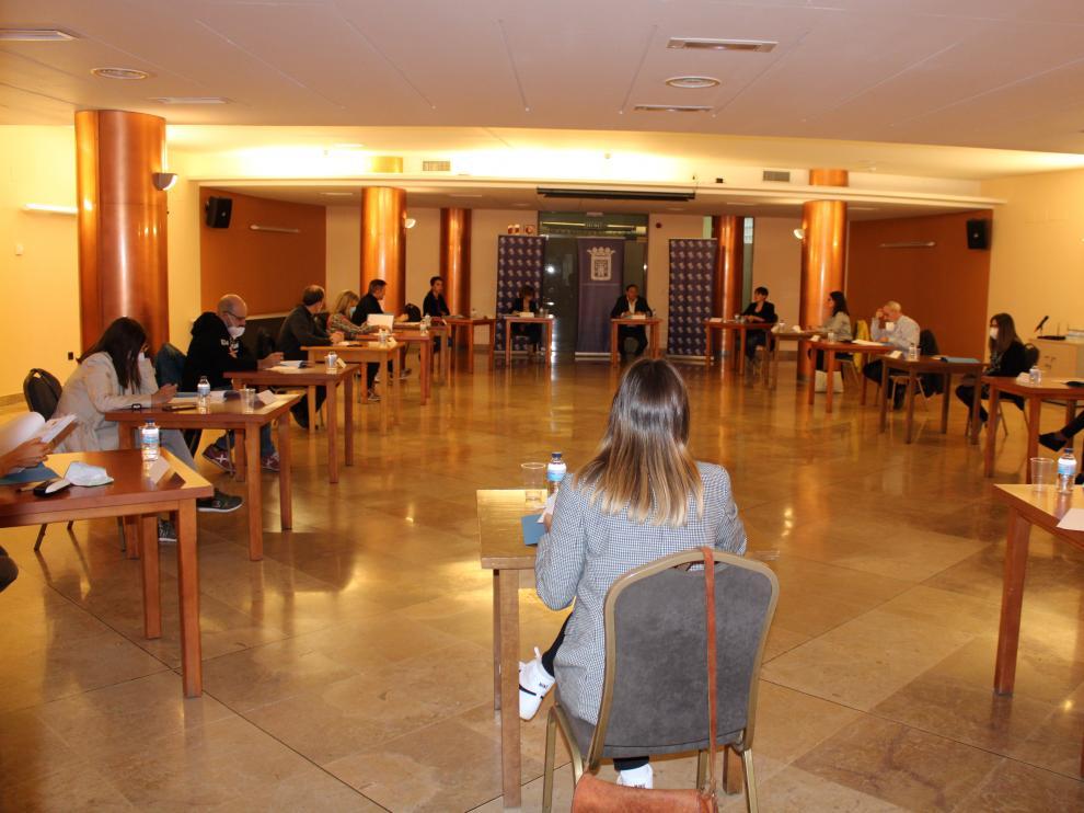 Agentes sociales reunidos en la primera mesa técnica que se ha celebrado en Tarazona.