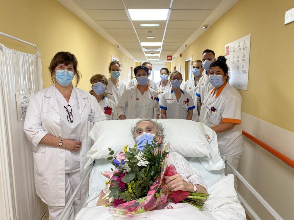 Última paciente ingresada en el Hospital San Juan de Dios