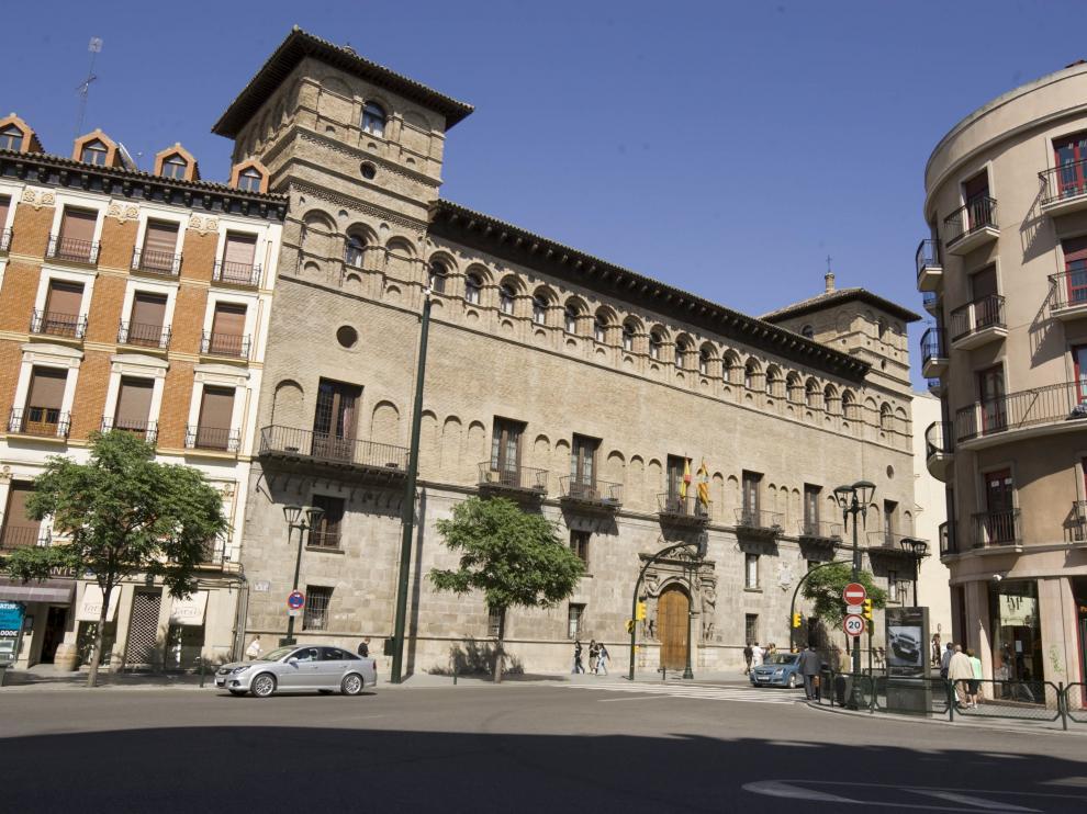 Fachada de la Audiencia Provincial de Zaragoza.