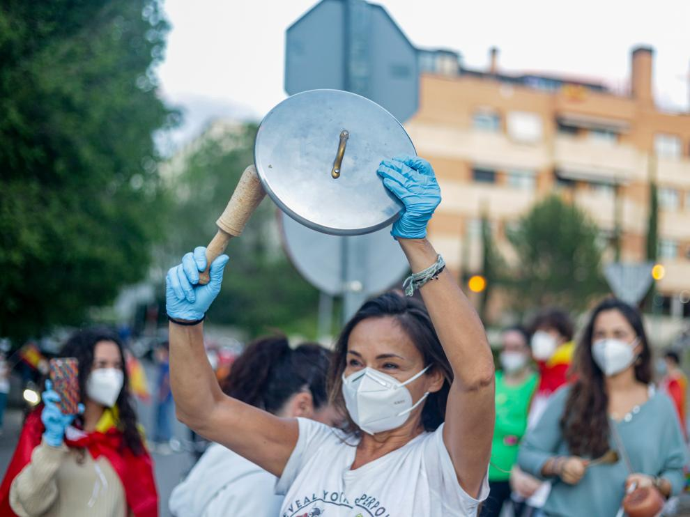 Protestas por la gestión del Gobierno de la crisis sanitaria.