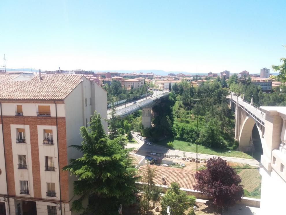 Imagen de los viaductos de Teruel tomada desde el Centro Histórico de la ciudad.