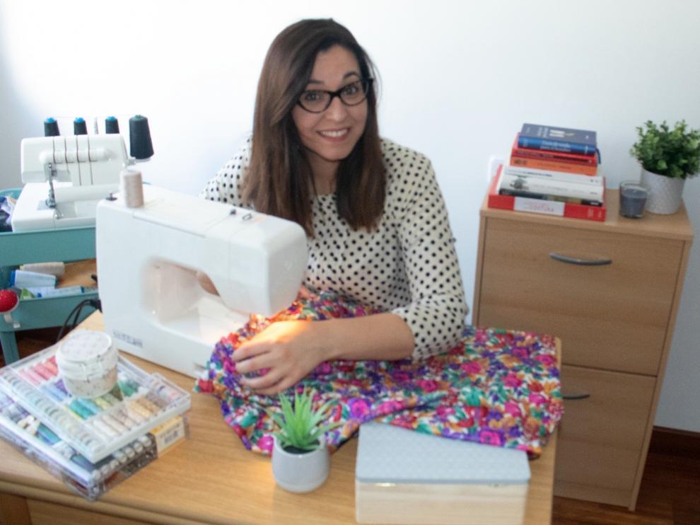 Lia Gago, trabajando desde casa