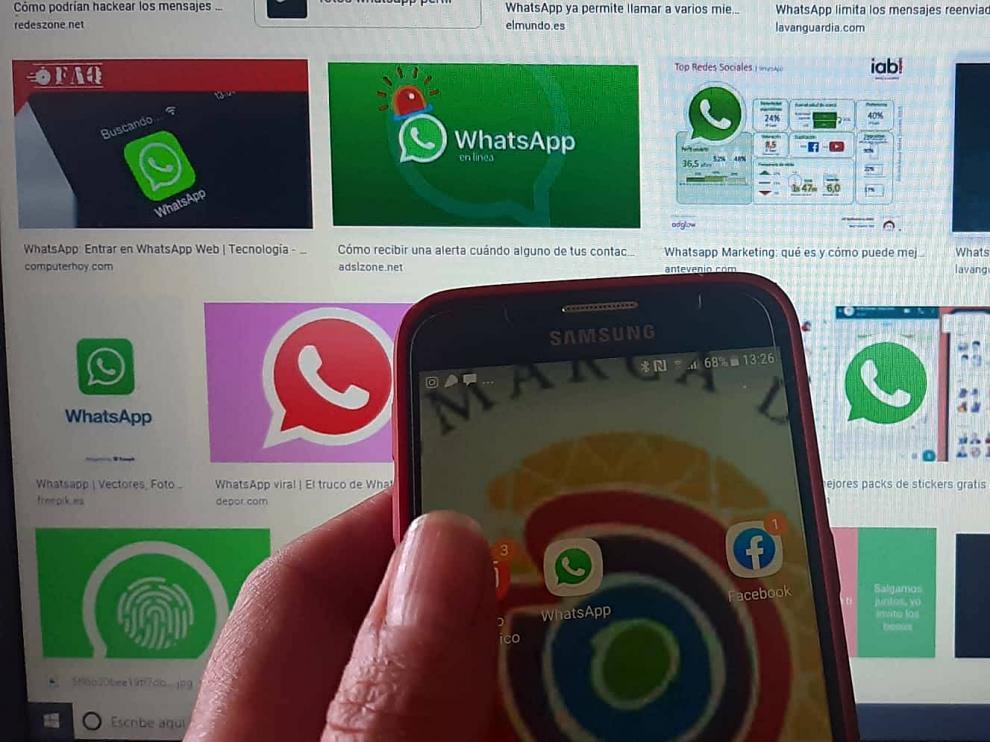 El servicio de mensajería Whatsapp mantiene conectada a la población inmigrante.