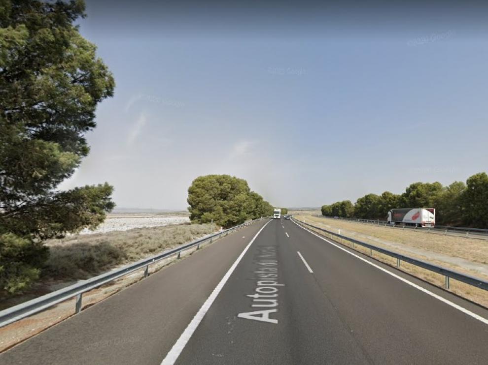 Una imagen de la AP-2, en Pina de Ebro.