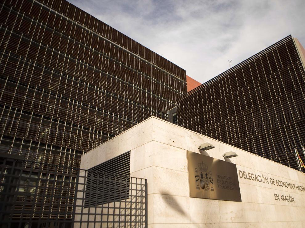 Sede de la Agencia Tributaria en Zaragoza.