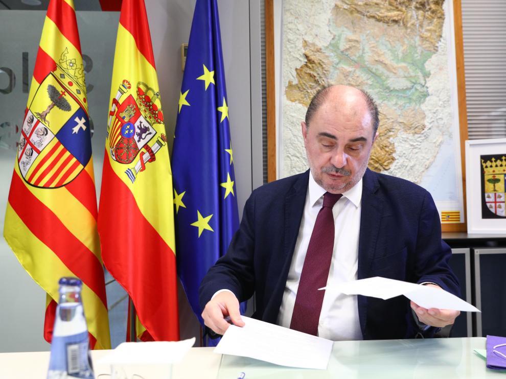 El presidente Javier Lambán ha mantenido una reunión con Pedro Sánchez
