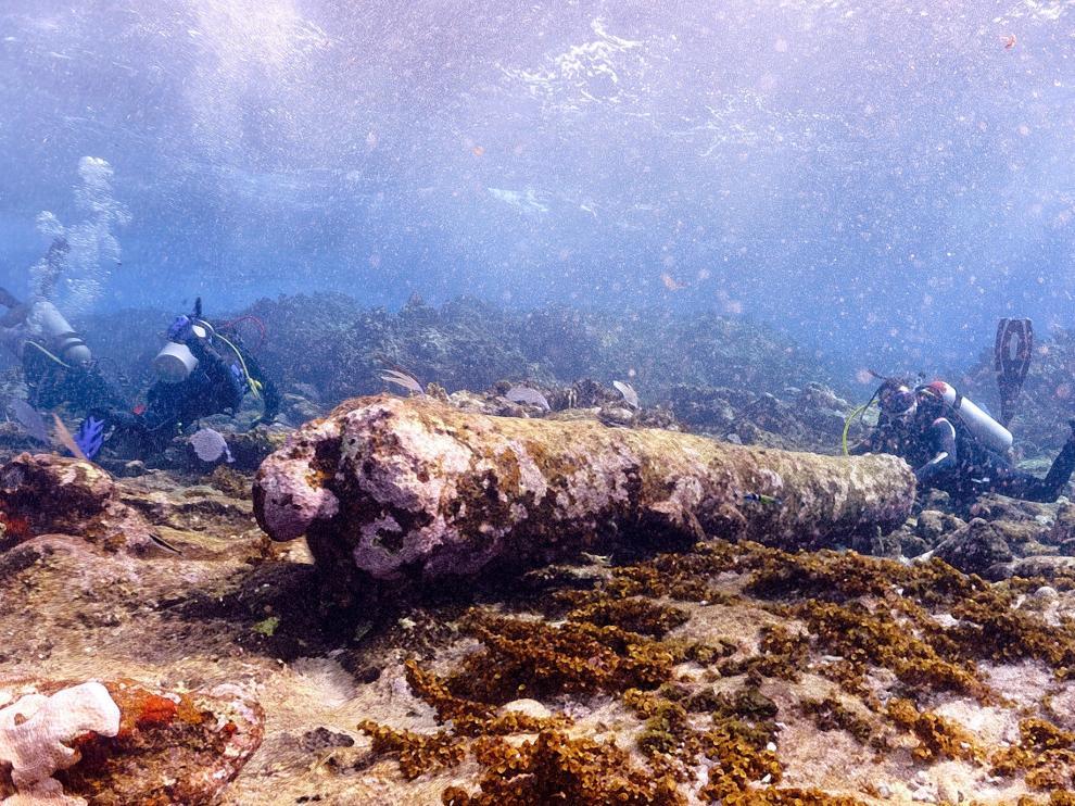 Localizan restos de naufragio de hace más de 200 años en el sureste de México