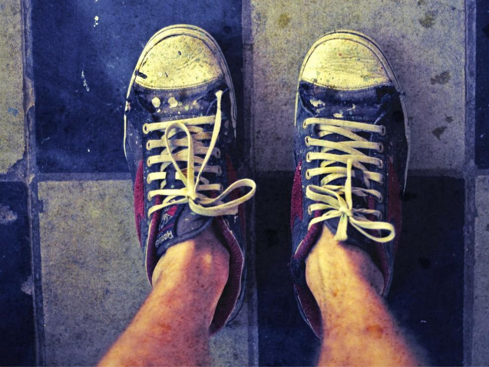 Zapatillas deportivas sucias
