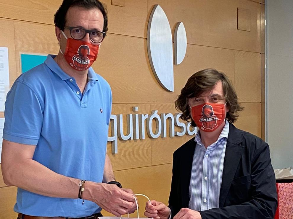 Casademont Zaragoza entrega 100 mascarillas en el hospital Quirónsalud