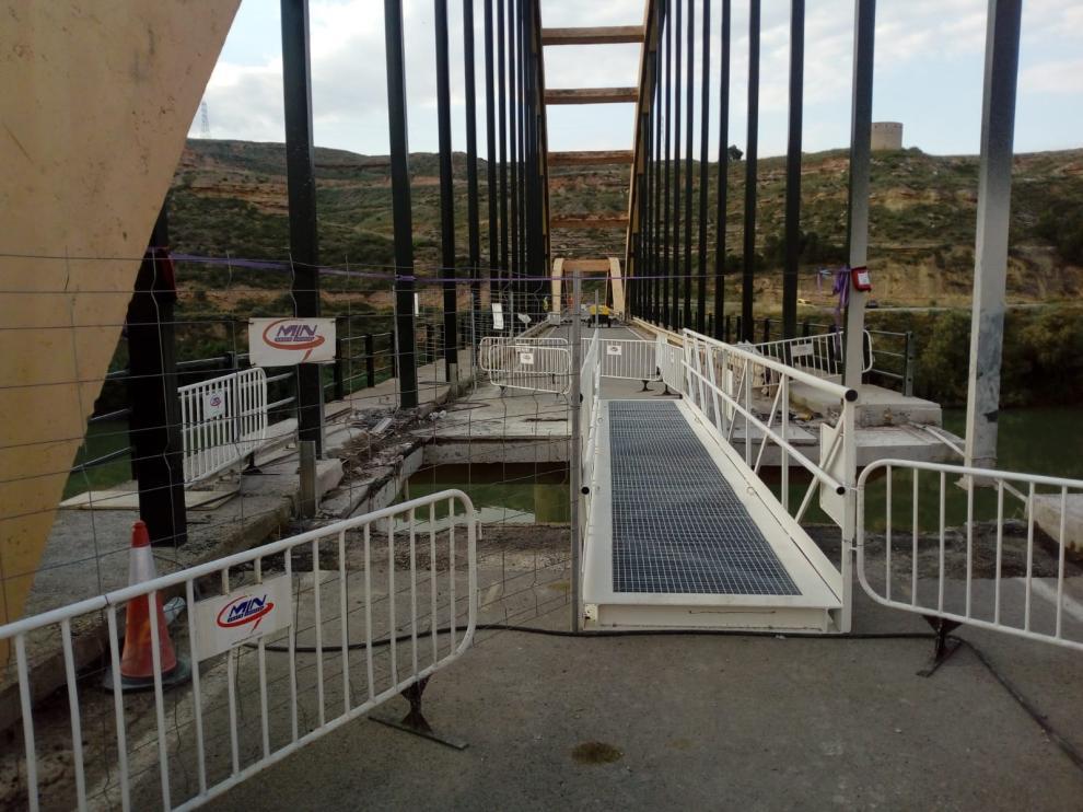 Obras puente de Sástago y acceso peatonal