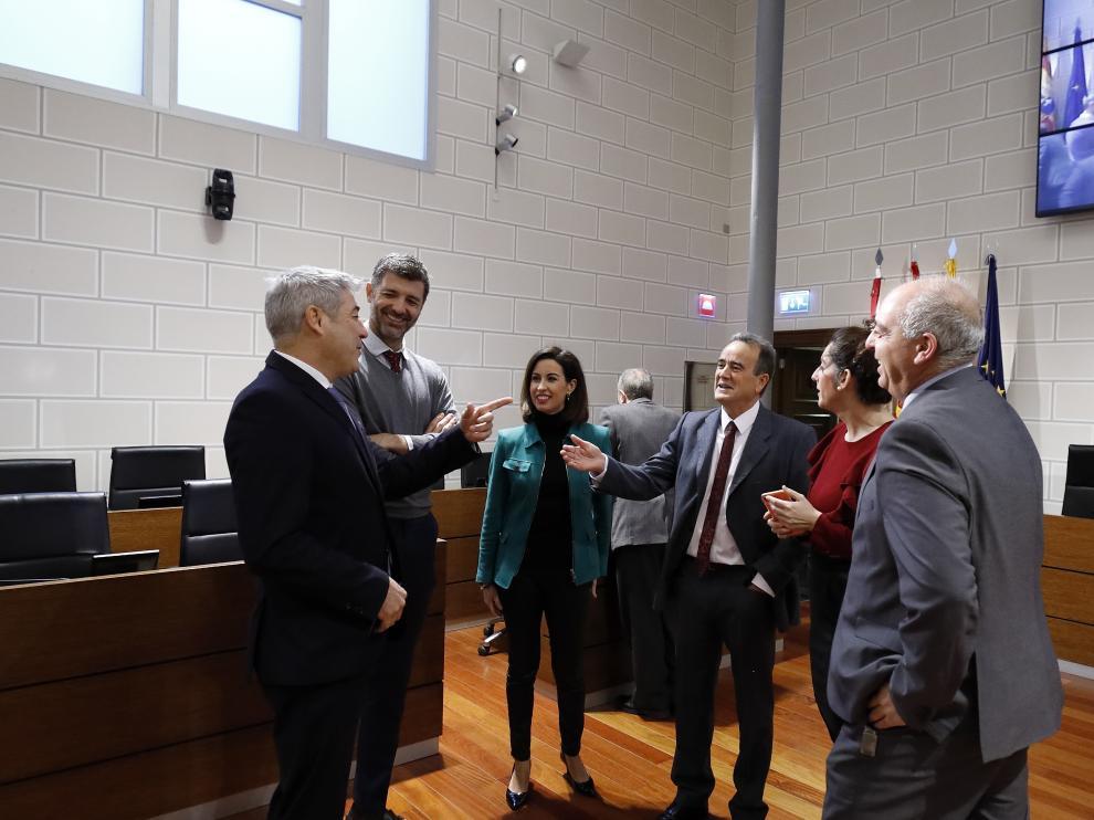 Reunión en la Diputación Provincial de Zaragoza