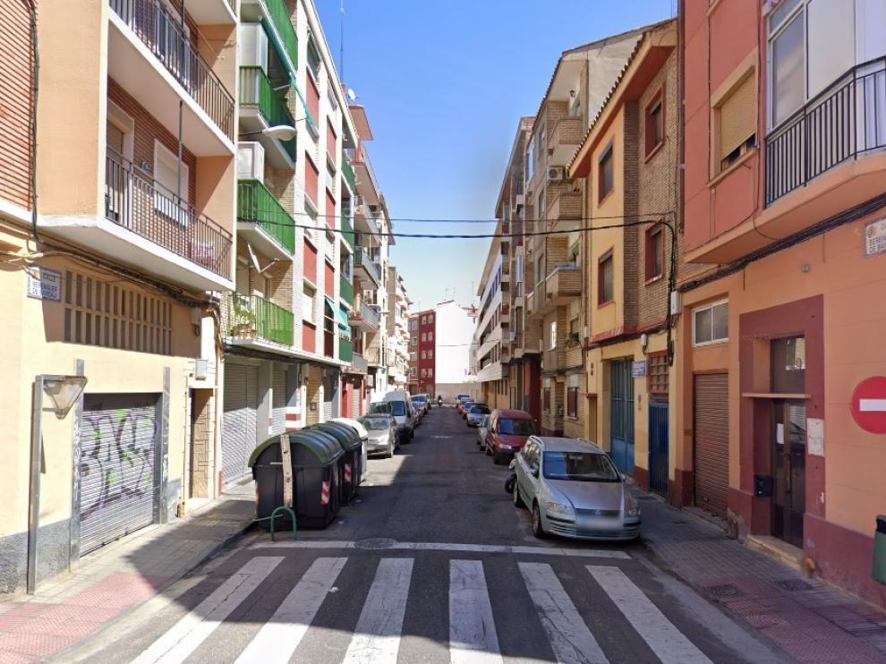 Calle de Berenguer de Bardají, en el barrio de Delicias de Zaragoza.
