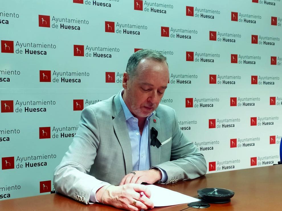 El concejal de Cultura y Fiestas de Huesca, Ramón Lasaosa.