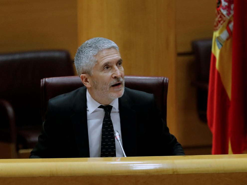 Comparecencia de Marlaska en el Senado