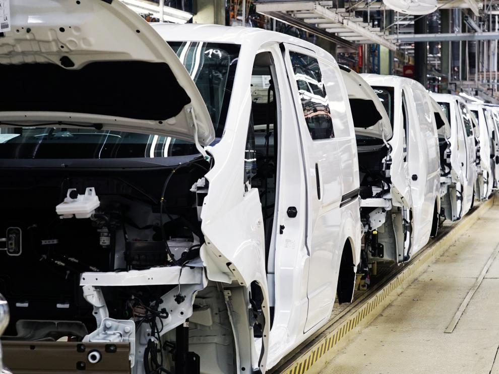 Cadena de montaje de la fábrica de Nissan en Barcelona.