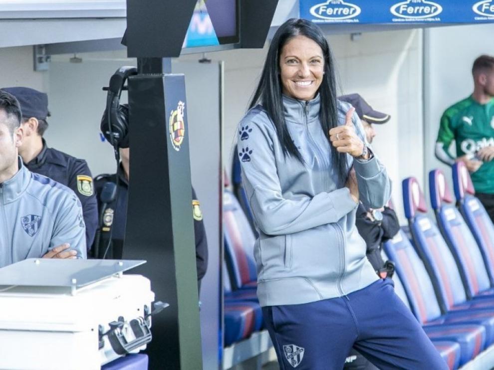Verónica Rodríguez, preparadora del Huesca femenino.