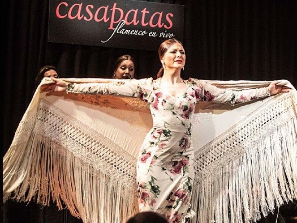 Actuación en Casa Patas, tablao madrileño de flamenco que ha anunciado que cierra por el coronavirus.