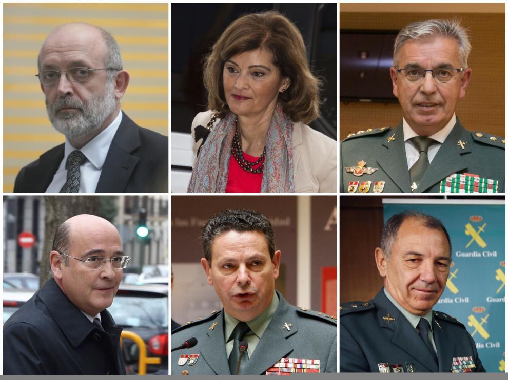 Azón, Botella, Corbí, Pérez Cobos, Ceña y Santafé, los seis damnificados por Marlaska.