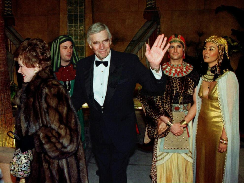 Charlton Heston en la reinuguración del Egyptian Theatre de Los Angeles en 1998.