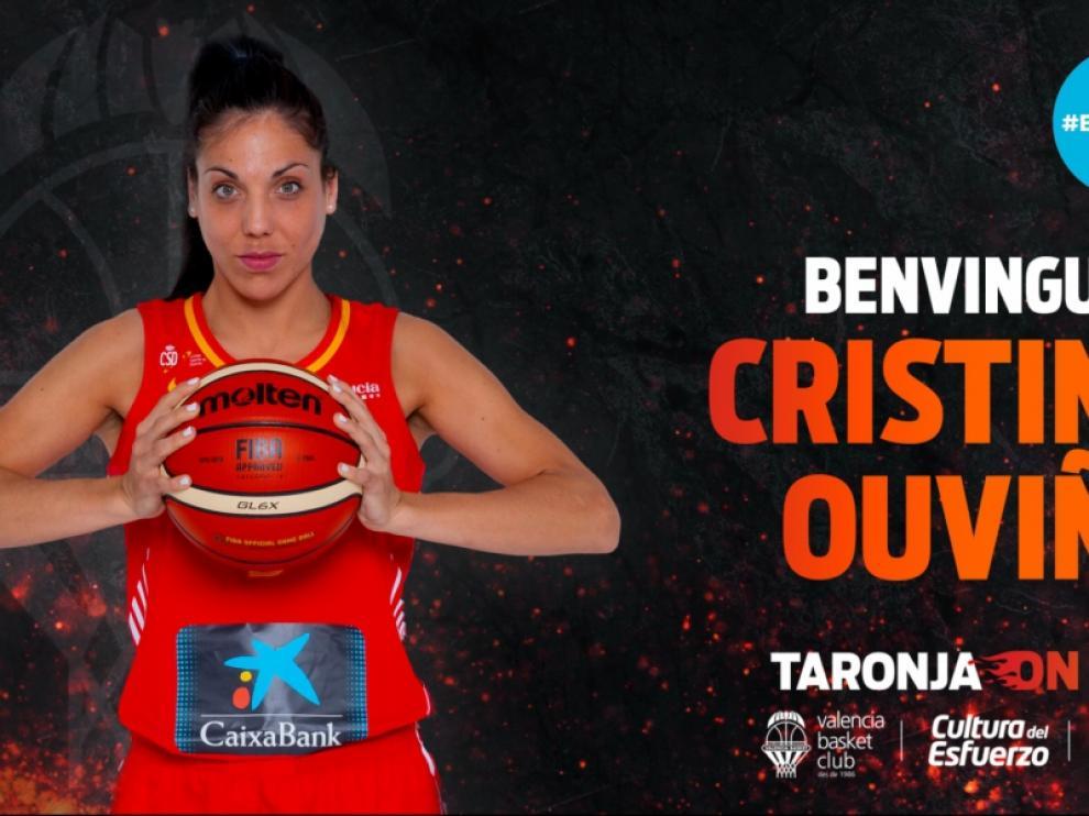 La zaragozana Cristina Ouviña, con su nueva camiseta.