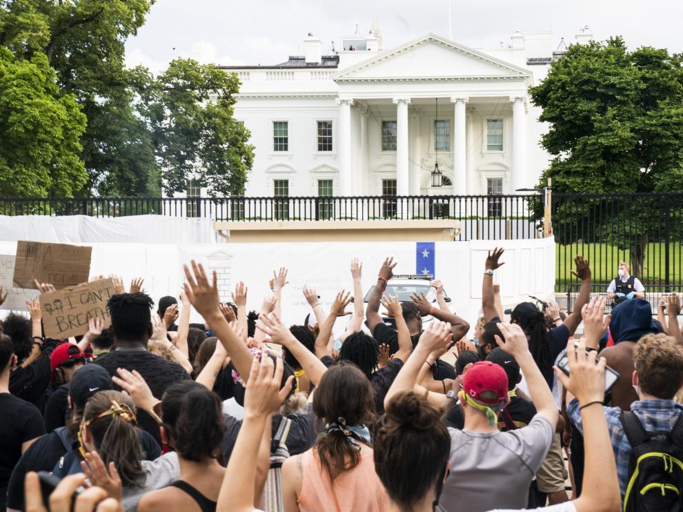 Protesta a las puertas de la Casa Blanca