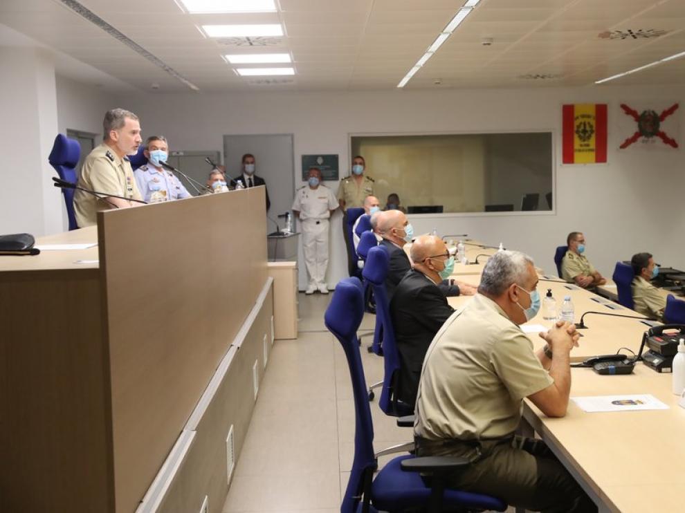 Videoconferencia del Rey con motivo del Día de las Fuerzas Armadas