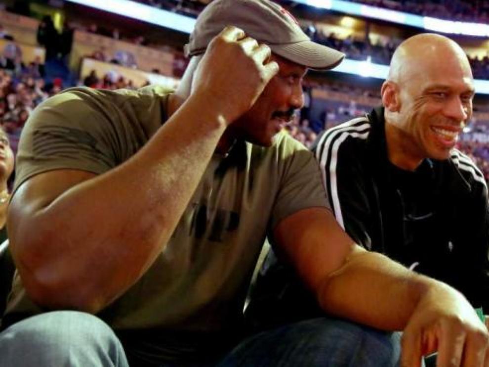 Kareem Abdul Jabba, a la derecha, en una imagen de archivo.
