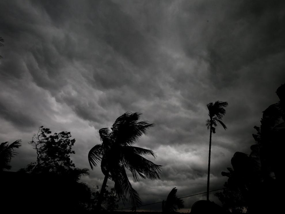 Tormenta de verano en Calcuta.