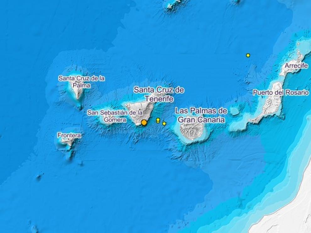 Últimos terremotos ocurridos en las Islas Canarias.