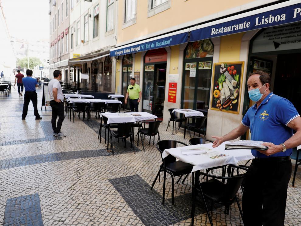 Un restaurante en el centro de Lisboa.