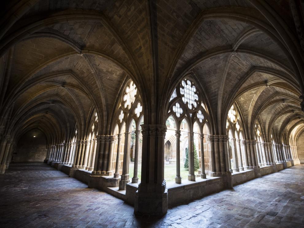 El imponente claustro del monasterio de Veruela