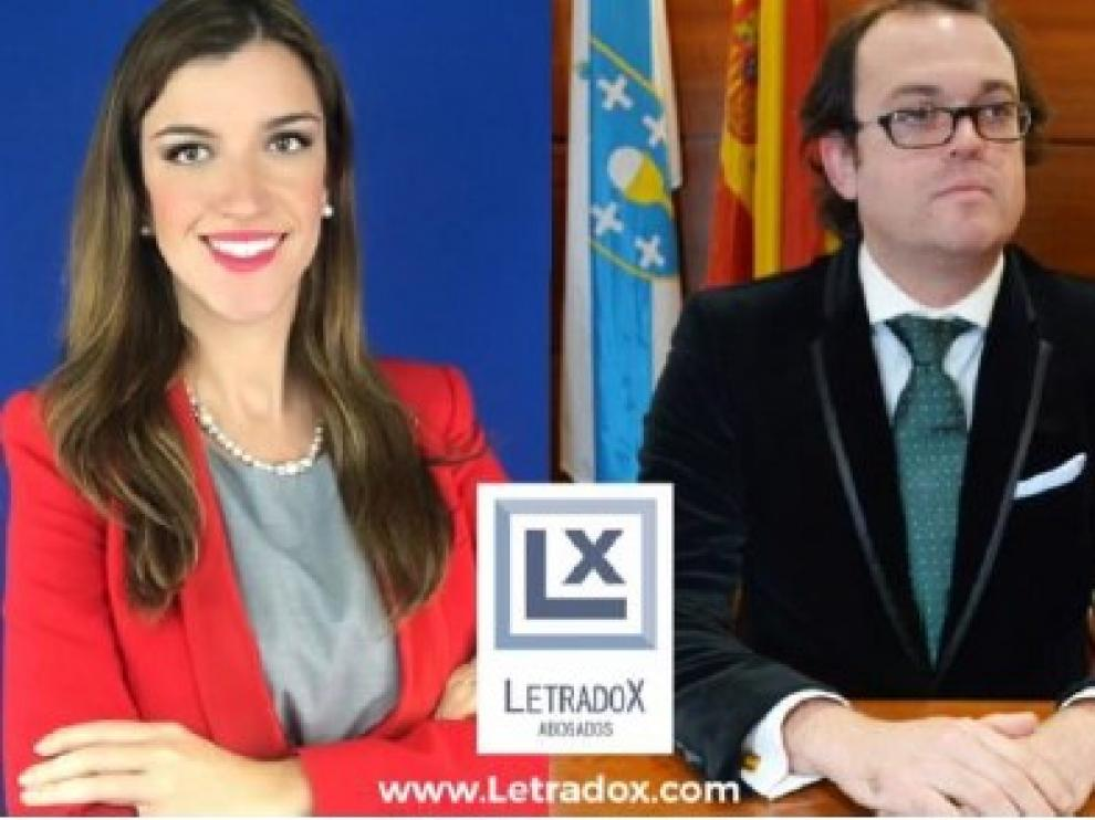 Los letrados Mercedes de Parada y Marcos Rivas, socios de Letradox Abogados
