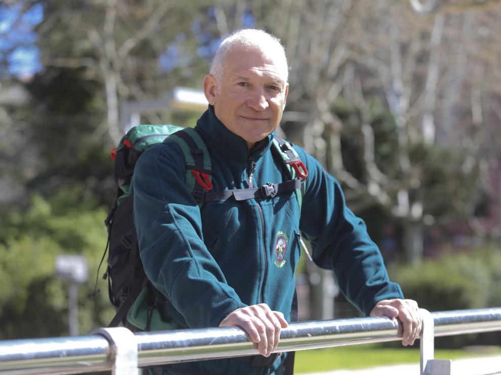 Patxi Álvarez, instructor del CAEM de Candanchú, pasó en marzo a la reserva.