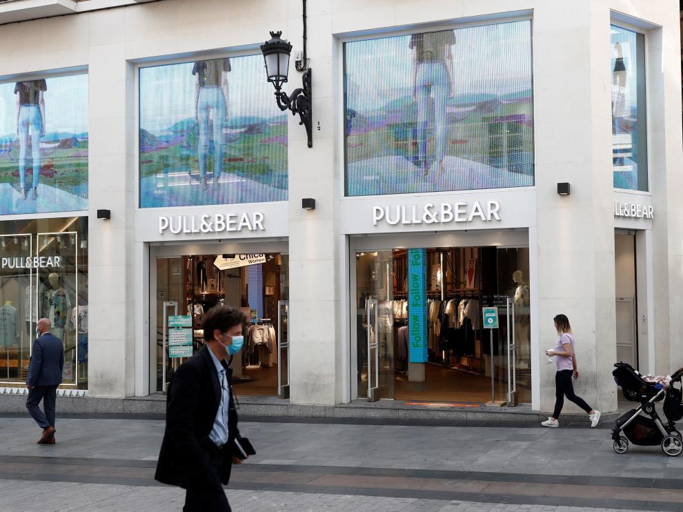 Tienda de la cadena Inditex en la calle Preciados de Madrid.