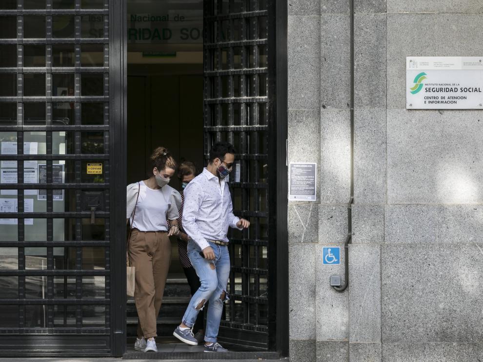 Oficina del INSS en Zaragoza.