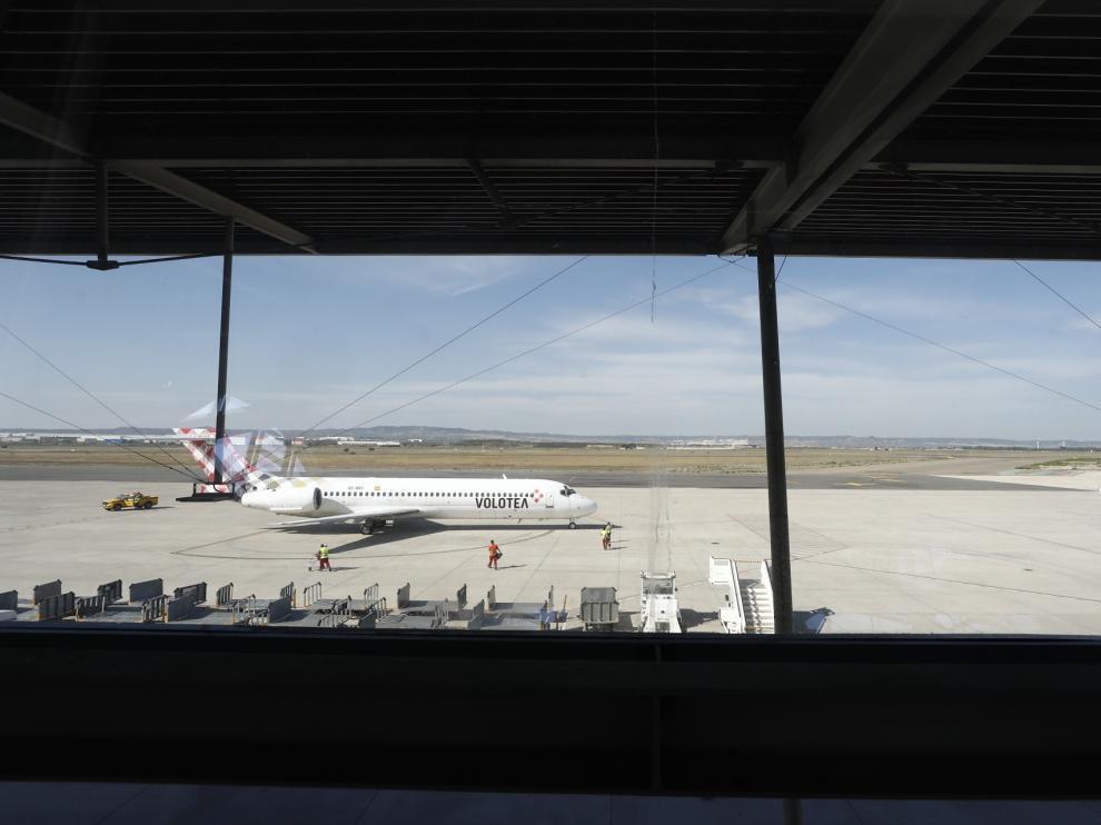 Vuelta a la actividad en el Aeropuerto de Zaragoza.