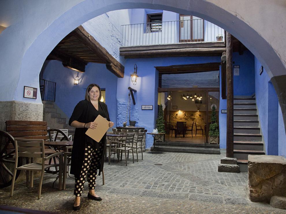 Verónica Sánchez dirige de la emblemática Hospedería de la Dolores, en Calatayud, que reabrió sus puertas el pasado 19 de mayo