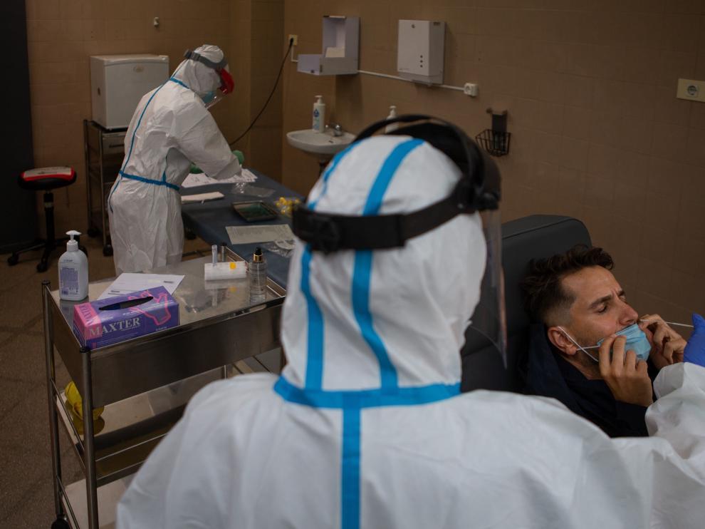 Pruebas PCR en el CAP Raval de Barcelona