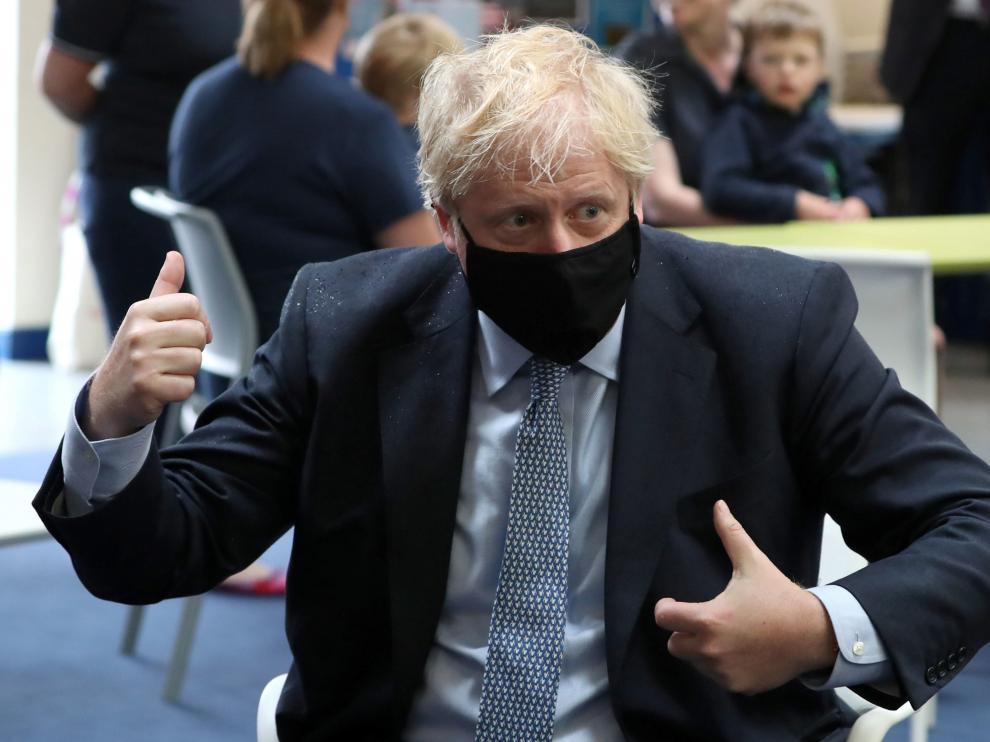 El primer ministro británico Boris Johnson en una visita a Escocia esta semana.
